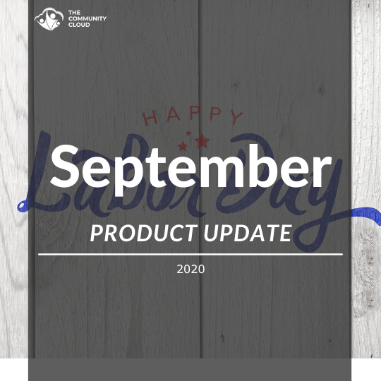 Sept 2020 Product Release